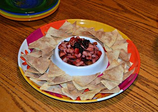 Fruit Salsa with Cinnamon Sugar Chips