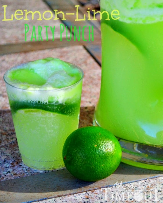 Lemon Lime HULK Party Punch Recipe