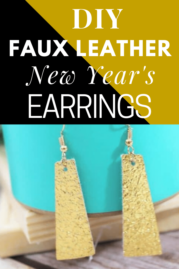 DIY Faux Leather New Year's Earrings made with Cricut via @clarkscondensed