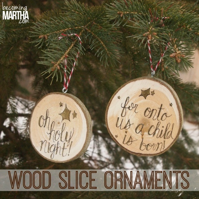 Wood Slice Christmas Ornaments - The Simply Crafted Life