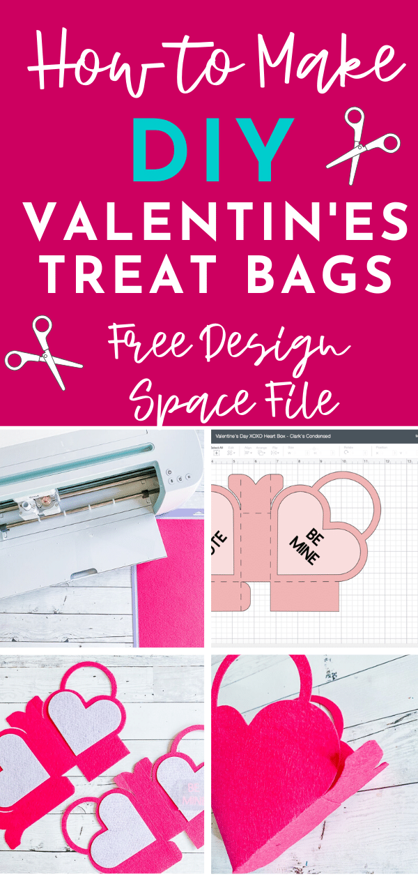 Super cute DIY Valentine's Treat Bag - free valentine's day project in Design Space! via @clarkscondensed