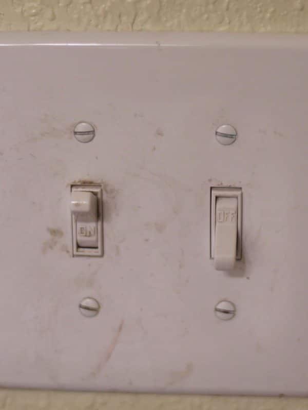 dirty light switch