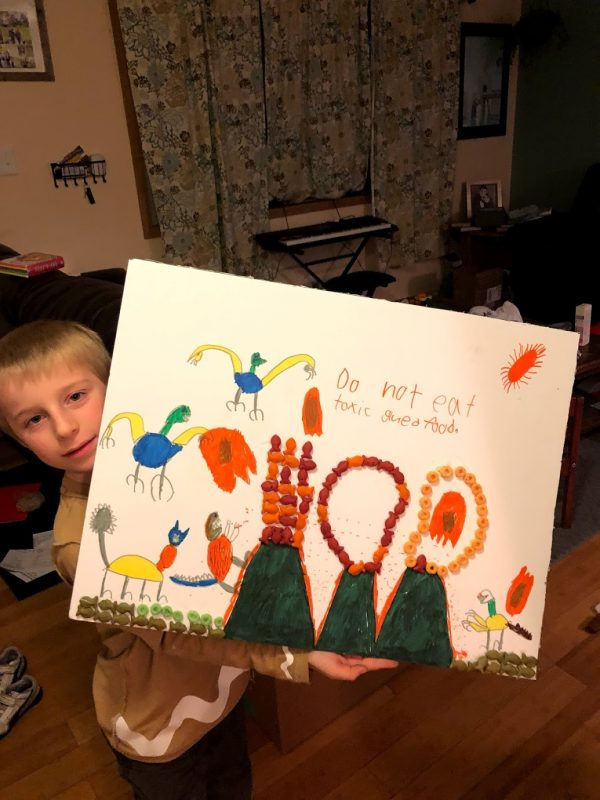 100 days of school project using gold fish and apple jack's