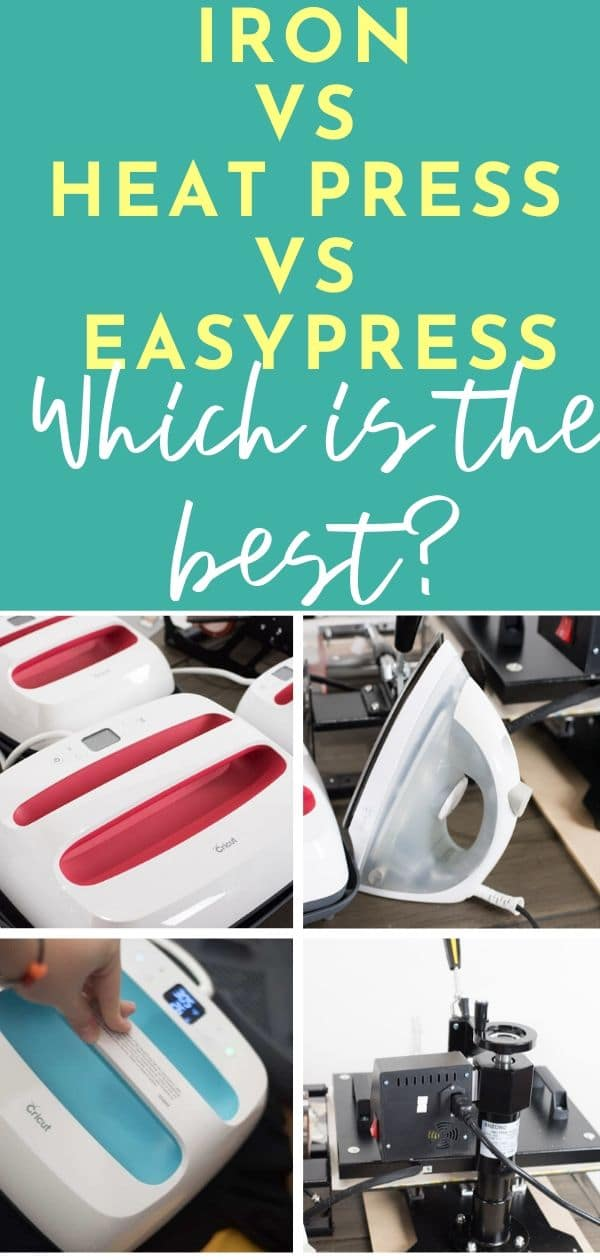 Cricut EasyPress vs Heat Press vs Iron: The Ultimate Showdown Cricut / Cricut EasyPress / EasyPress 2 / Heat Press / Vinyl via @clarkscondensed