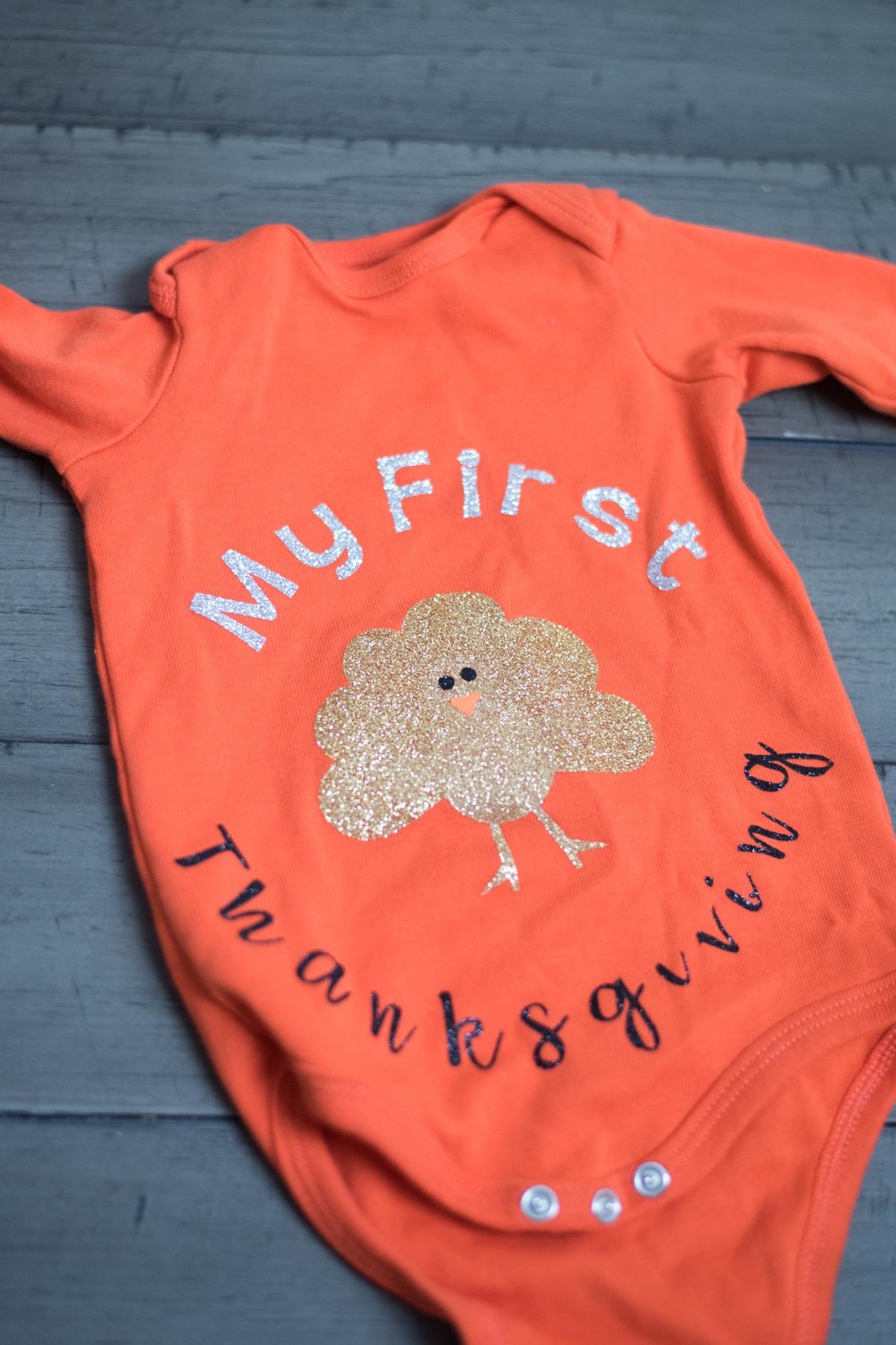 Baby's first Thanksgiving onesie