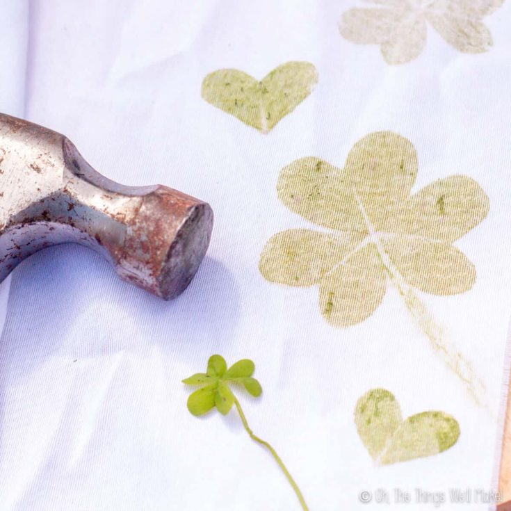 Hammered Shamrock Prints and Clover Hearts