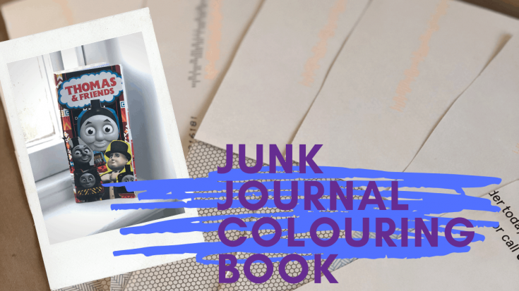 How to Upcycle Junk Mail - Junk Journal Colouring Book