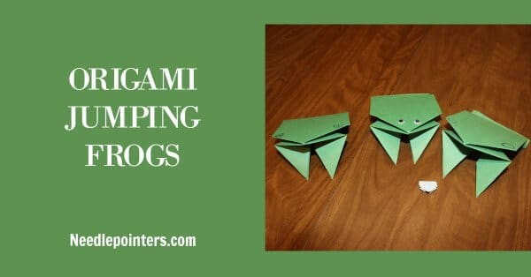 Learn how to fold Origami Frogs | Needlepointers.com