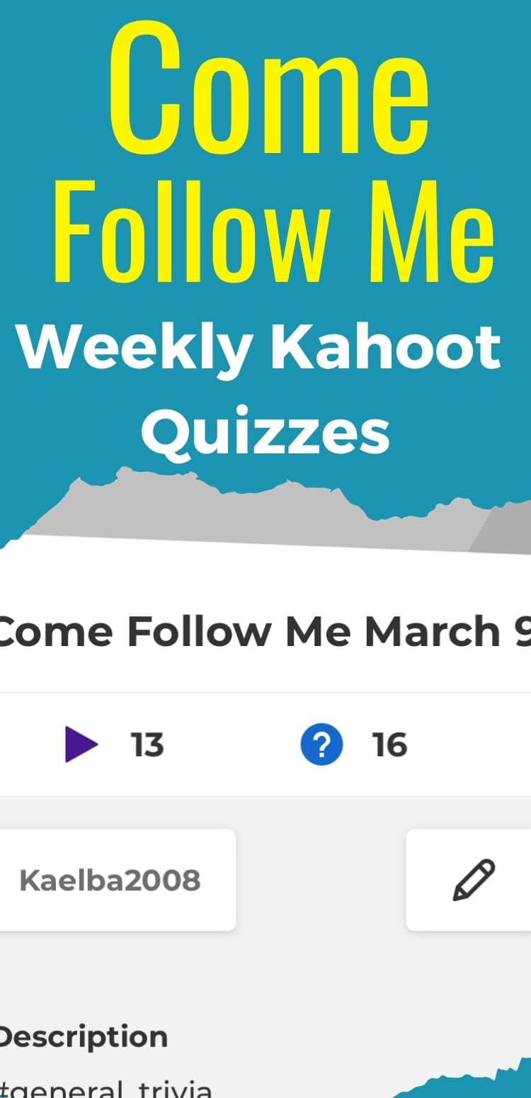 Come Follow Me Kahoots