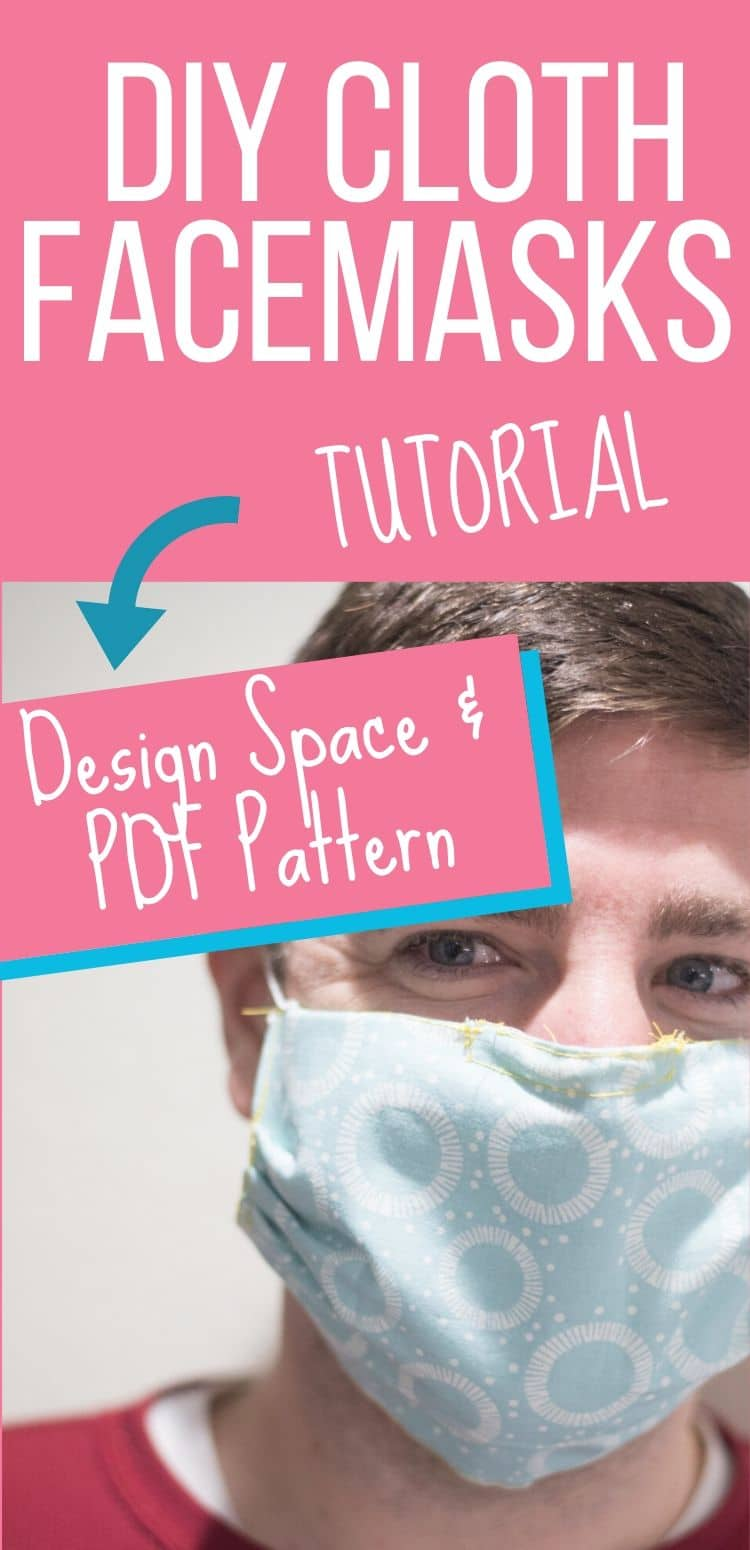 Easy DIY Face Mask Tutorial – Cricut and PDF Patterns via @clarkscondensed