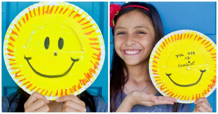 """You Are My Sunshine"" Paper Plate Craft"