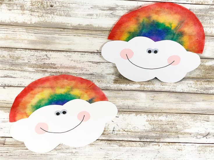 Coffee Filter Rainbow Craft for Kids