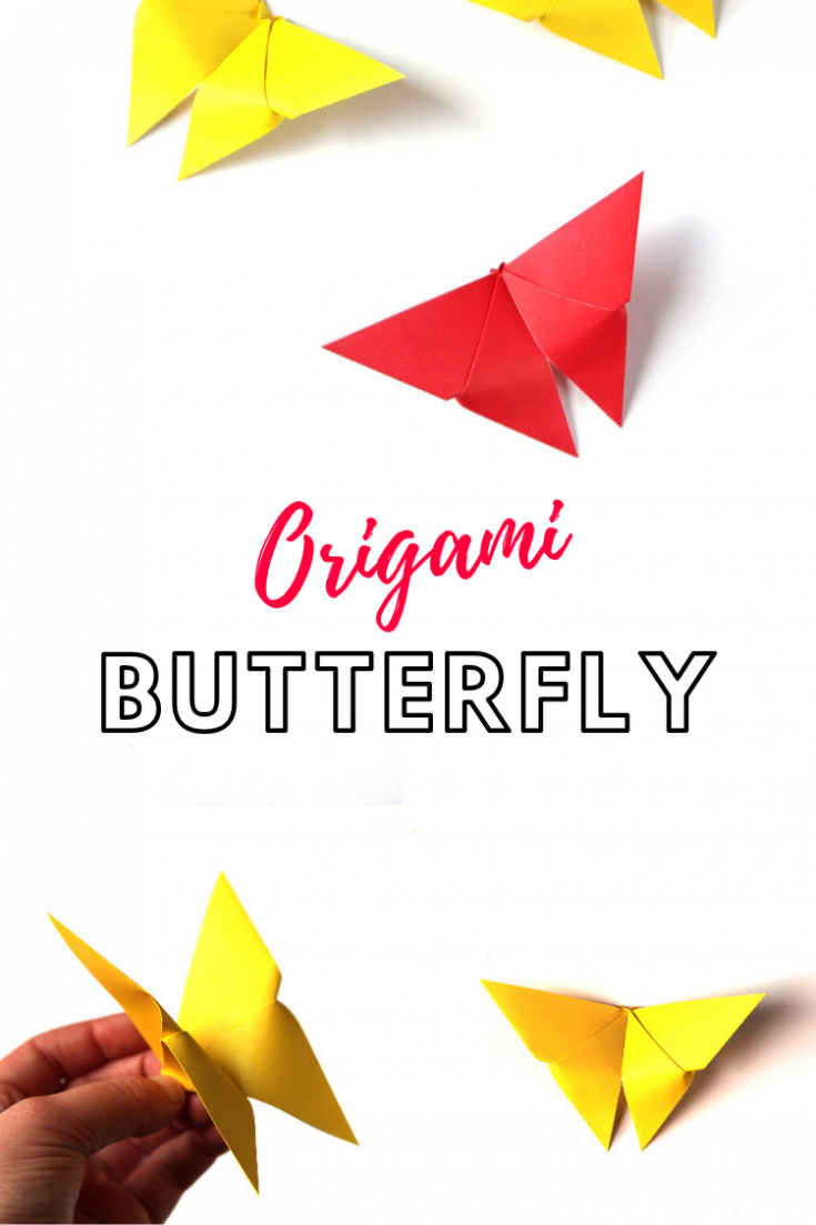 HOW TO MAKE AN EASY ORIGAMI BUTTERFLY.