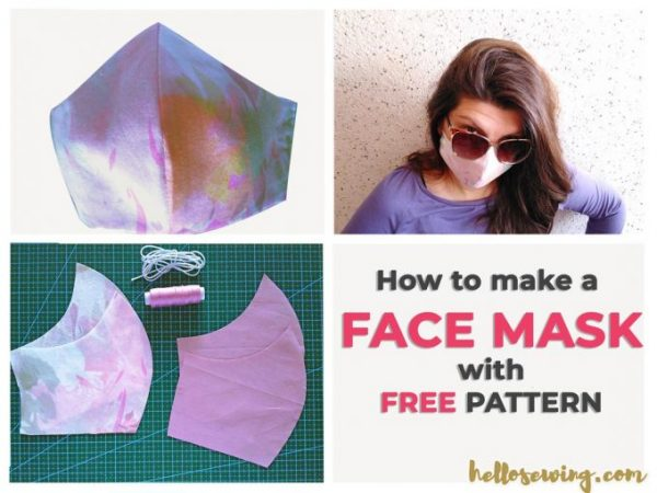 hello sewing face mask