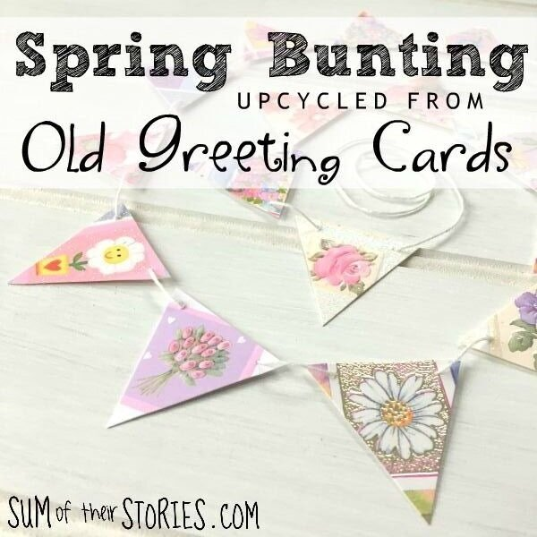 Upcycled Greeting Card Bunting