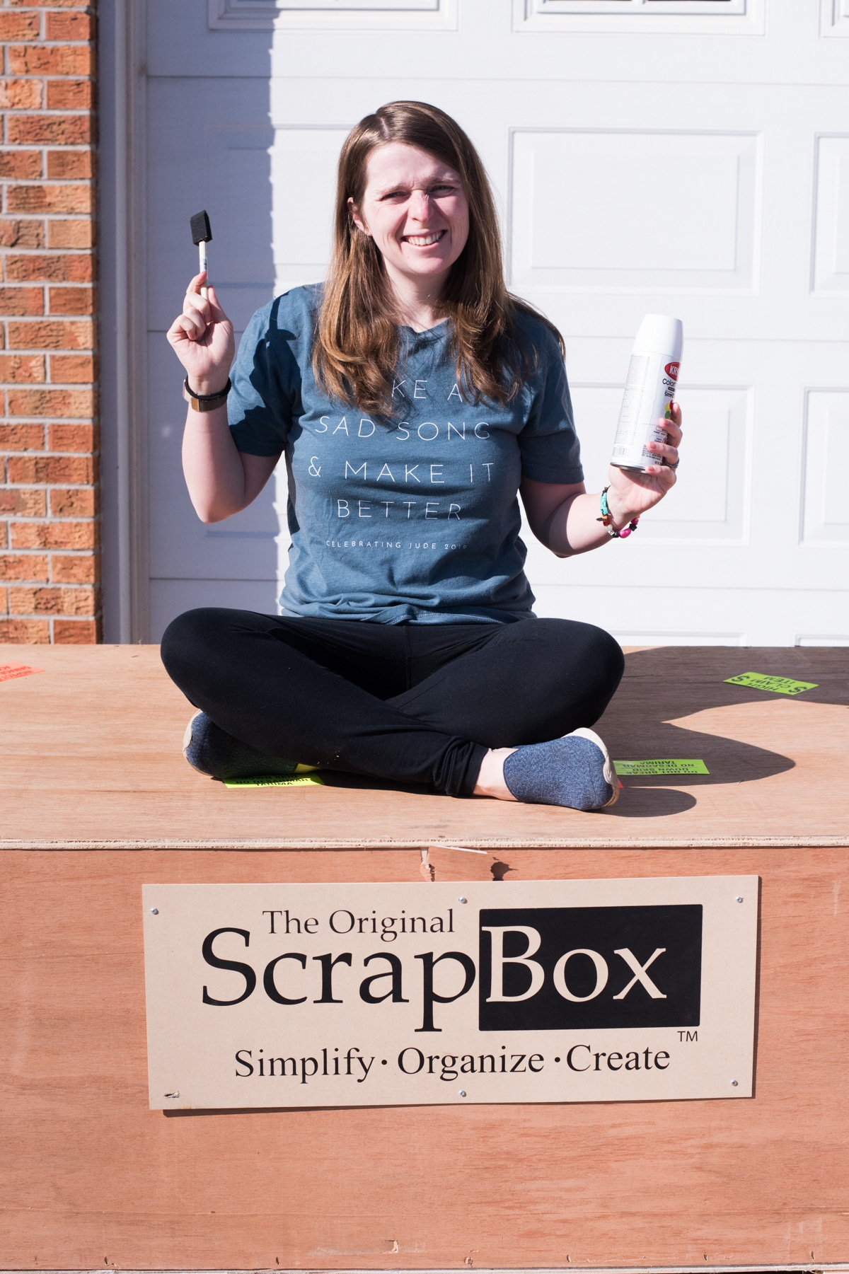 The Original ScrapBox Company Delivery Crate