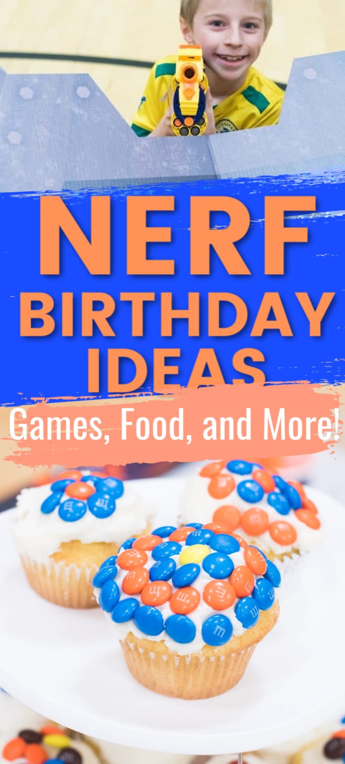 Tons of ideas for your upcoming Nerf party - nerf-themed food, party foods, Nerf decorations, and more! via @clarkscondensed