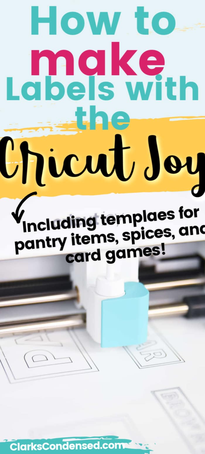 Make your own labels with the Cricut Joy! Here is everything you need to know to get started. via @clarkscondensed