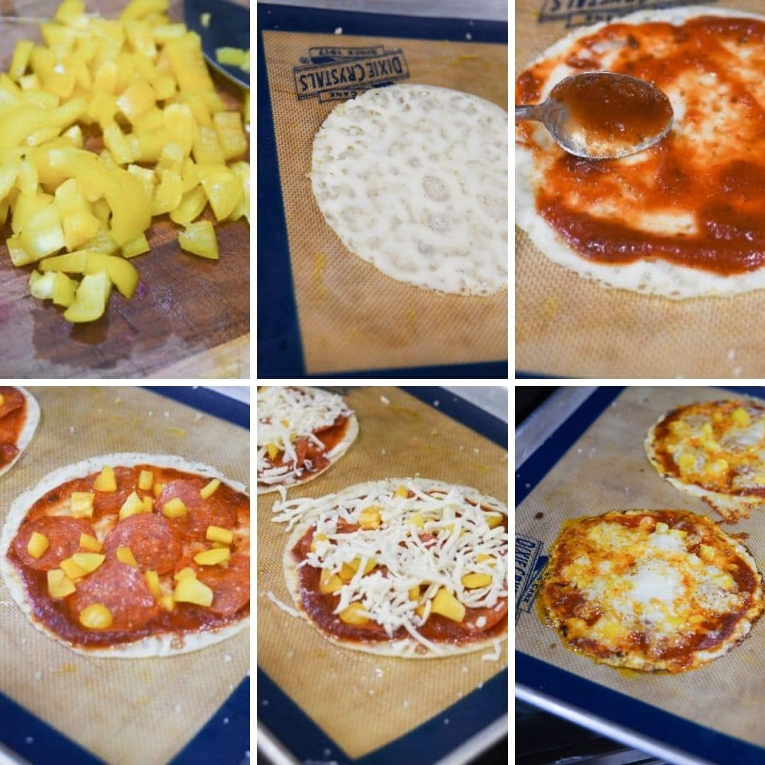 Prep steps for cheese pizza crust
