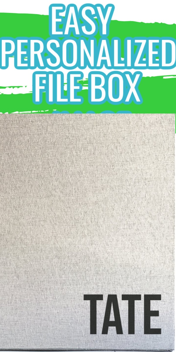 How to Make a Personalized File Box with HTV via @clarkscondensed