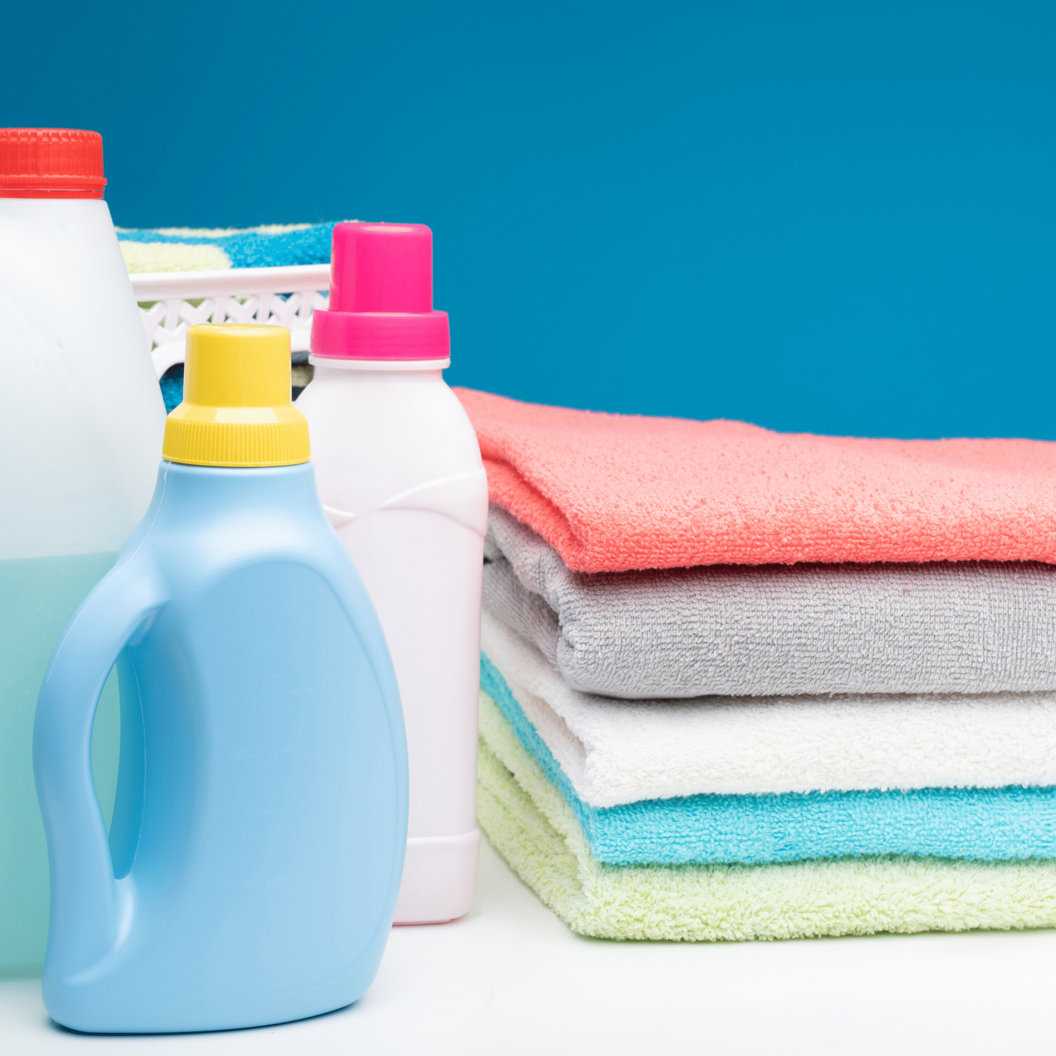 laundry supplies and towels