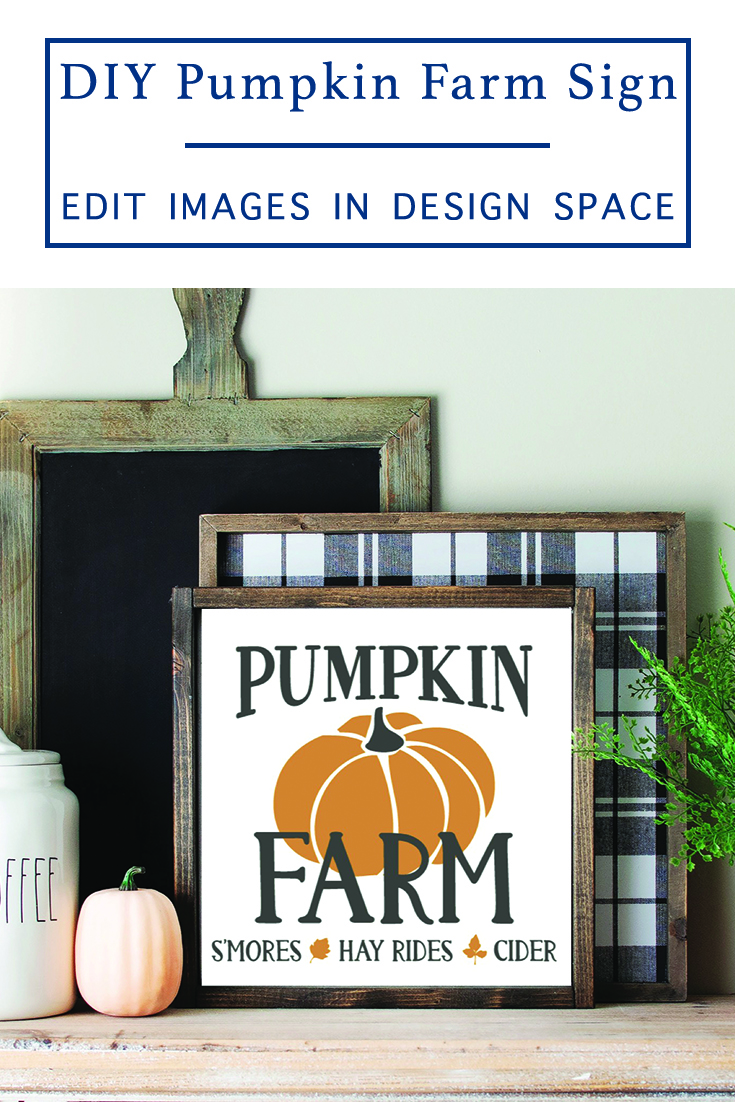 This is an easy Farmhouse sign you can make with your Cricut! It features a fun Fall design that will make any house feel a little more cozy this fall! via @clarkscondensed