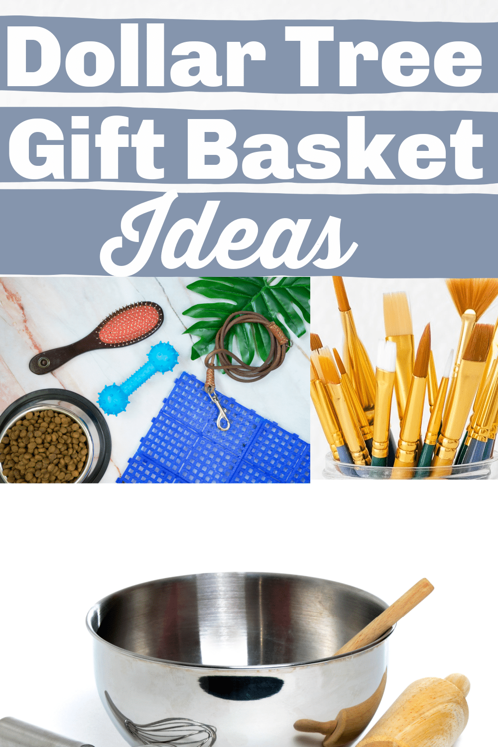 Dollar Tree Gift Basket Ideas for less than $10 via @clarkscondensed