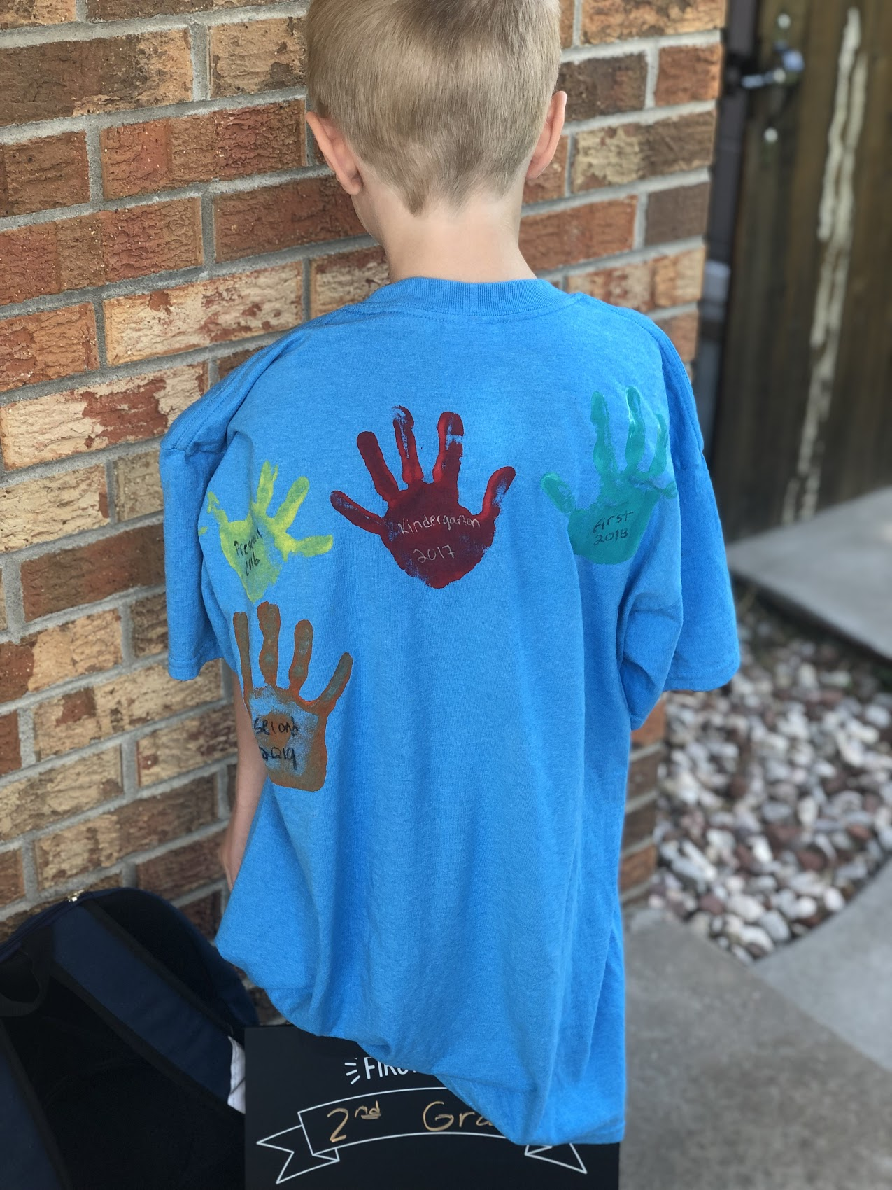 hand print shirt for back to school
