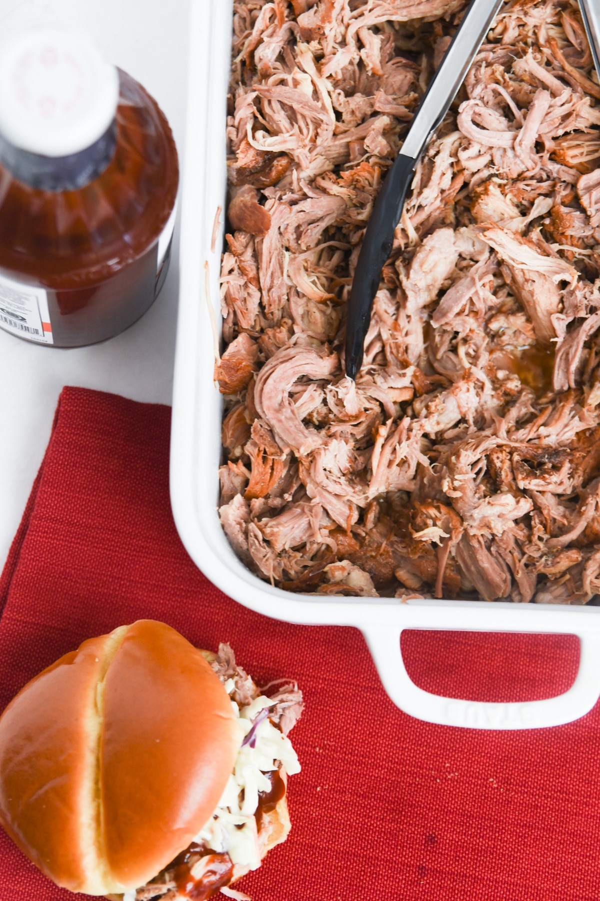 Instant Pot Pulled pork in serving dish