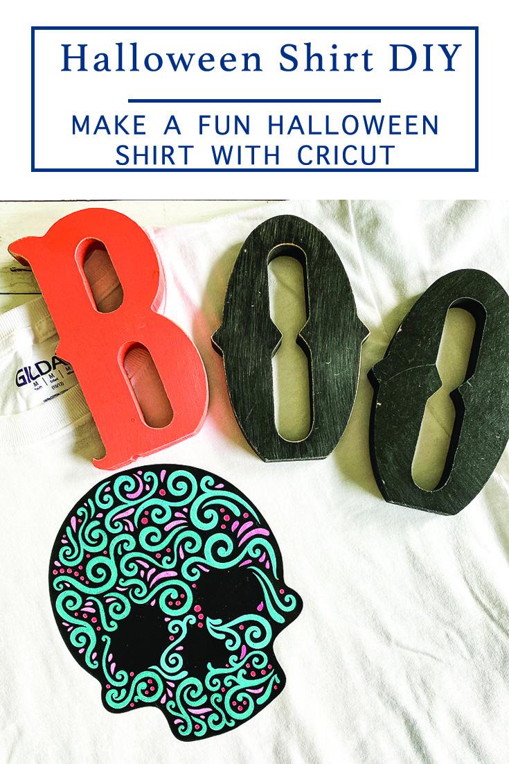 BOO Halloween Sugar Skull Shirt
