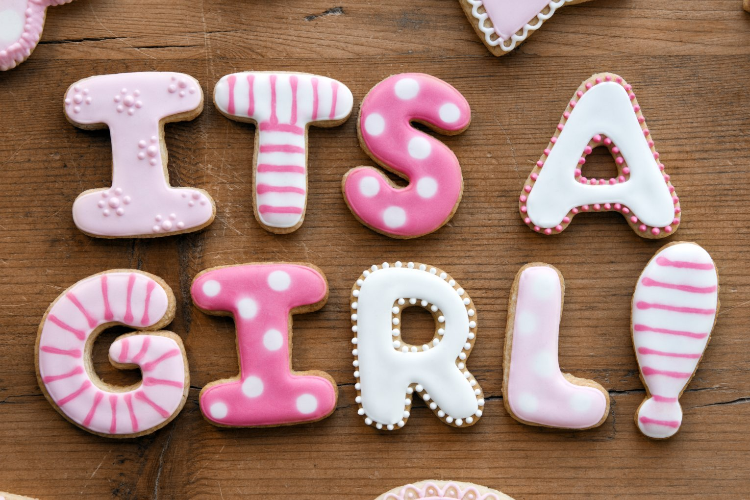it's a girl cookies
