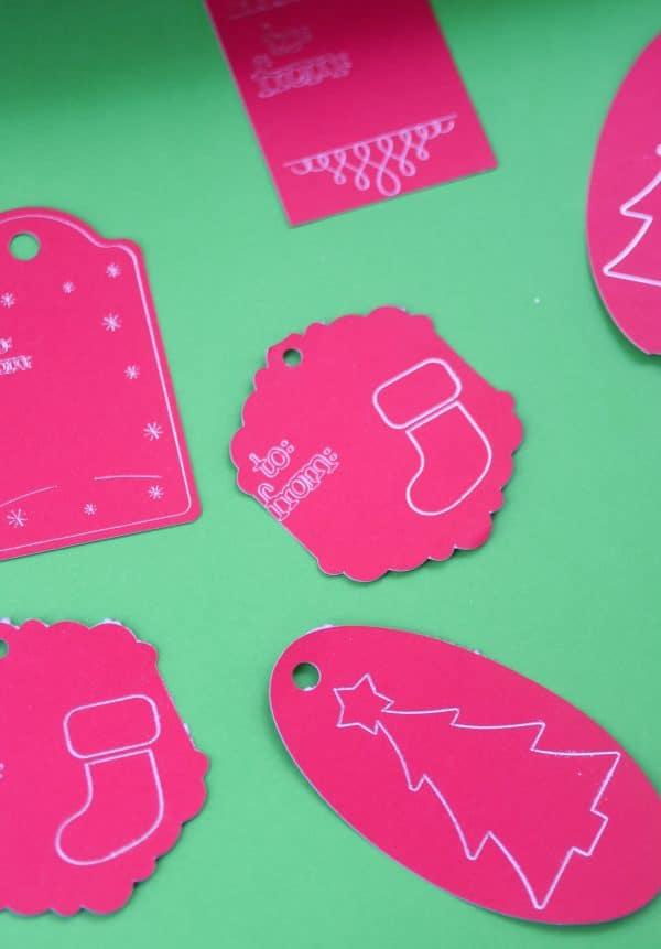 cricut christmas tags
