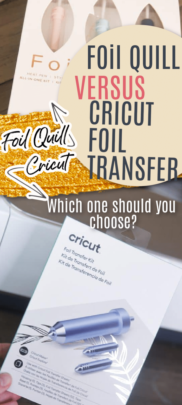 If you are wanting to put some fun foil embellishments on your crafting projects, you might be trying to decide on the Cricut Foil Transfer System or the We R Memory Keepers Foil Quill. This post breaks them down to help you decided which one to get! via @clarkscondensed