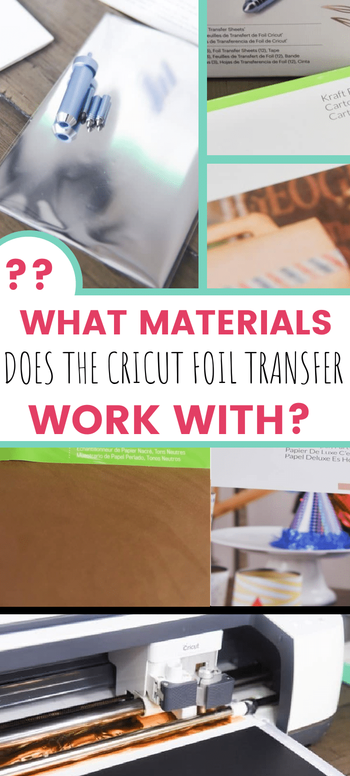 What Materials Does Cricut's Foil Transfer Work With? via @clarkscondensed