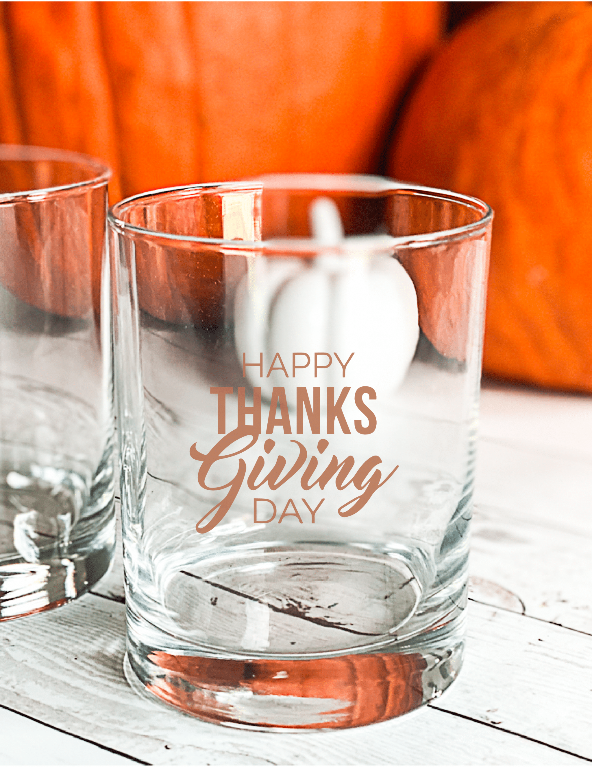 Easy DIY Thanksgiving Glasses with Cricut via @clarkscondensed