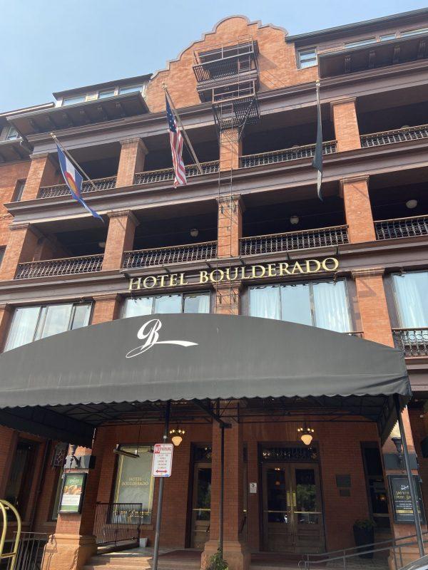 hotel boulderado - front of hotel