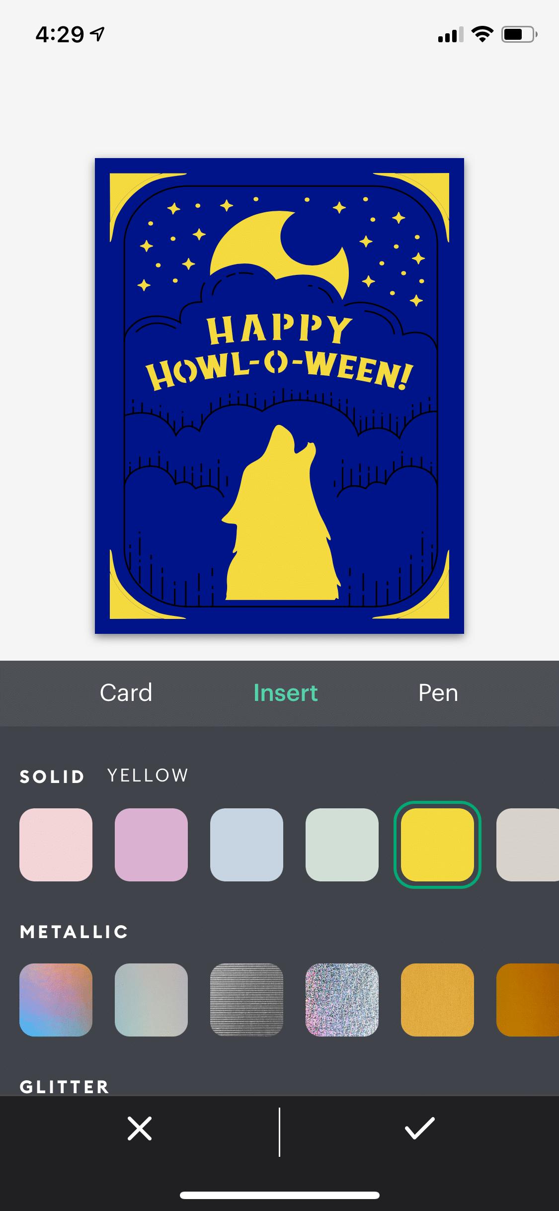 changing color of Cricut joy cards
