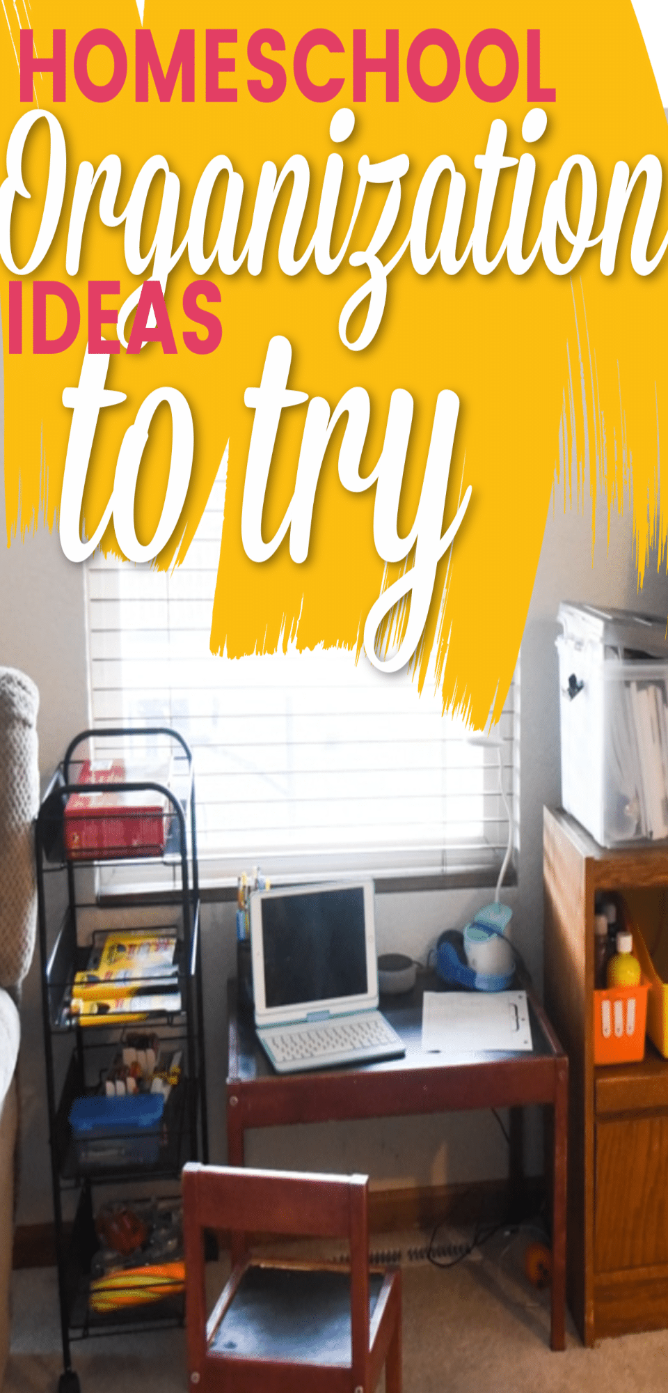 Easy Homeschool Organization Ideas + Free Homeschool Planner via @clarkscondensed