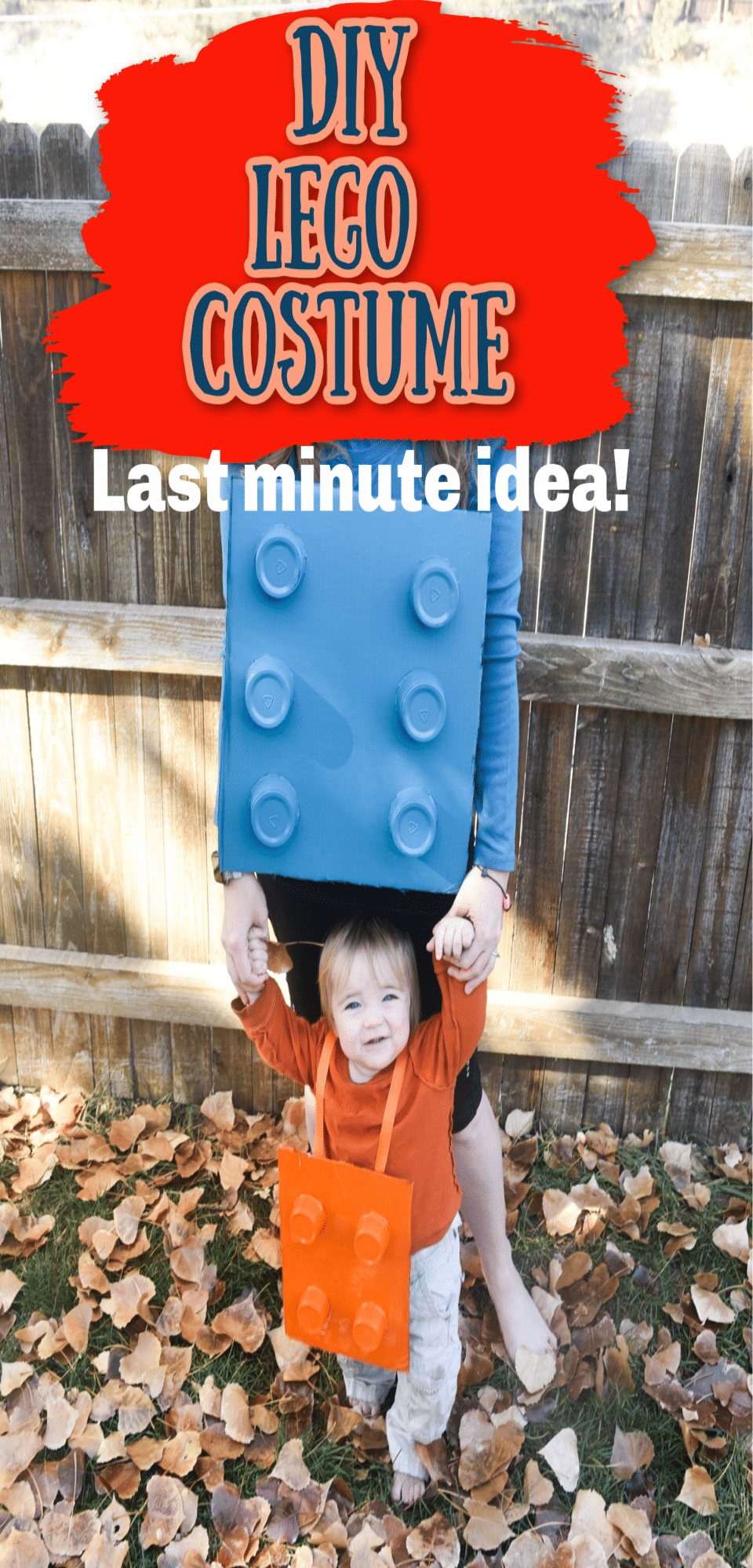 Make your own DIY LEGO costume with some cardboard, cups, and a little bit of spray paint. This is a great last minute costume idea - you probably have all the materials! via @clarkscondensed