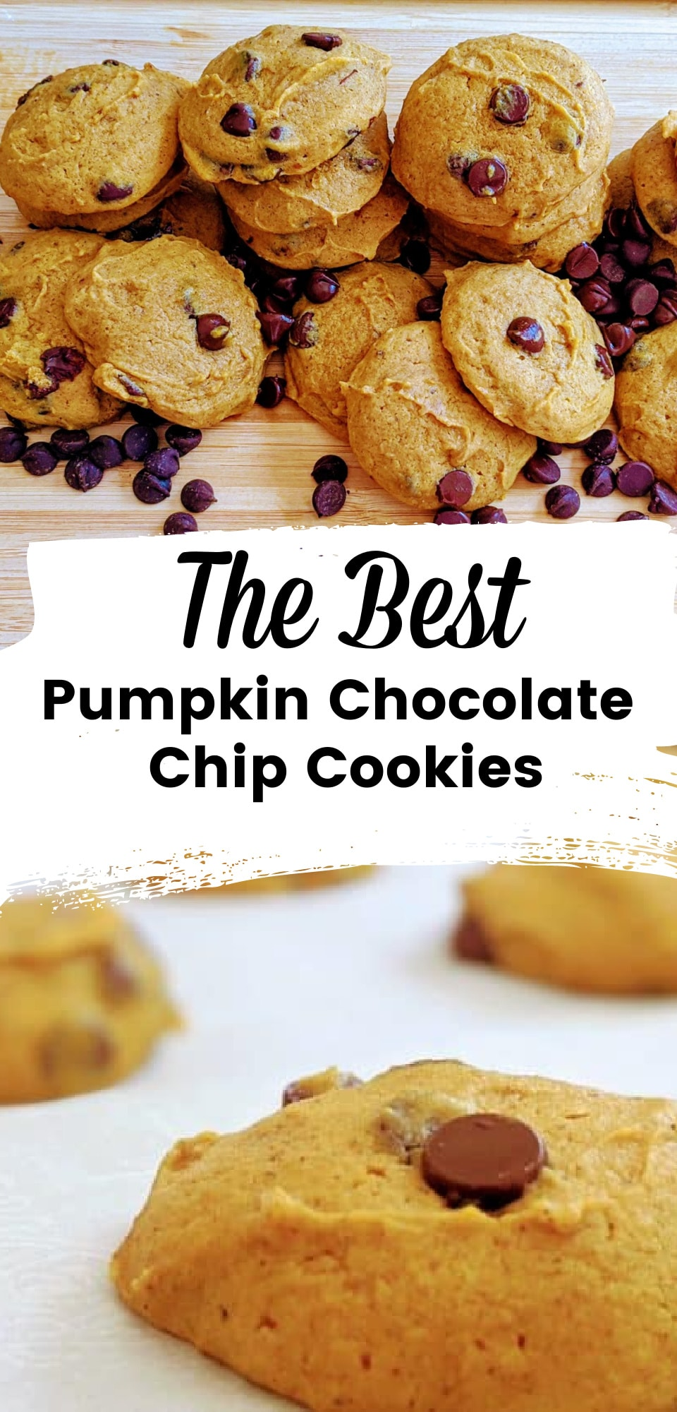 Pumpkin chocolate chip cookies are a fall essential - this recipe creates a soft pumpkin cookie with an amazing blend of fall spices. via @clarkscondensed