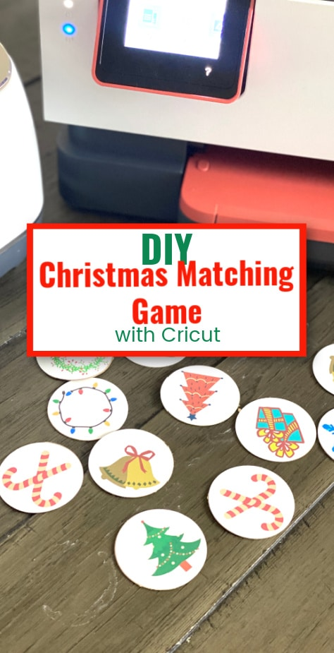 DIY Cricut Christmas Matching Game via @clarkscondensed
