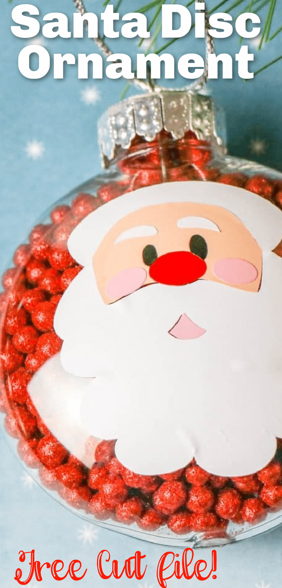 Want to make Christmas feel more cozy? Homemade ornaments are easier than you think with the Cricut—and totally worth! This Santa ornament will look great on your tree as you make Christmas more personal this year. via @clarkscondensed